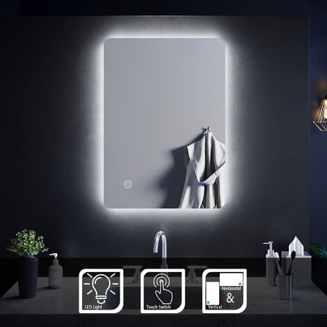ELEGANT LED Illuminated Bathroom Mirror with Light Sensor
