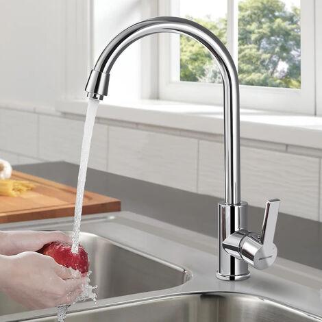 Elegant Mischbatterie Küchenarmatur 360° Drehbar Schwenkbarer Wasserhahn Armatur für Küche Waschbecken