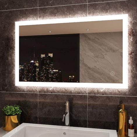 "main image of ""ELEGANT Modern LED Illuminated Bathroom Mirror"""