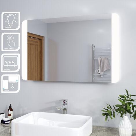 ELEGANT Modern LED Illuminated Bathroom Mirror