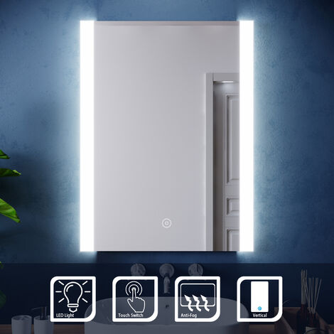 ELEGANT Modern LED Illuminated Bathroom Mirror