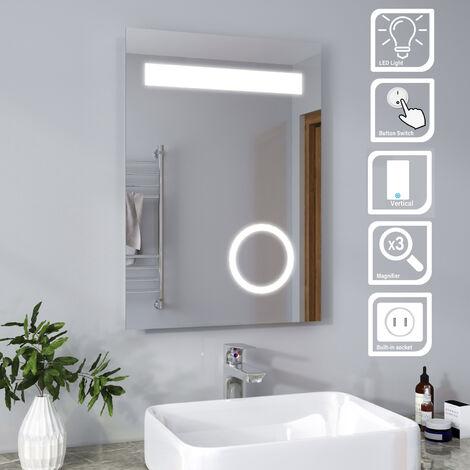 ELEGANT Modern LED Illuminated Bathroom Mirror with Light