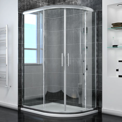 ELEGANT Offset Quadrant Shower Enclosure 1200 x 800 mm Tempered Sliding Glass Cubicle Door
