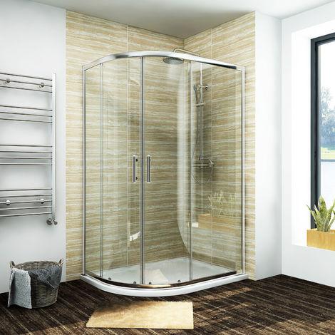 ELEGANT Quadrant Shower Cubicle Enclosure Sliding Door 900 x 800 mm Easy Clean