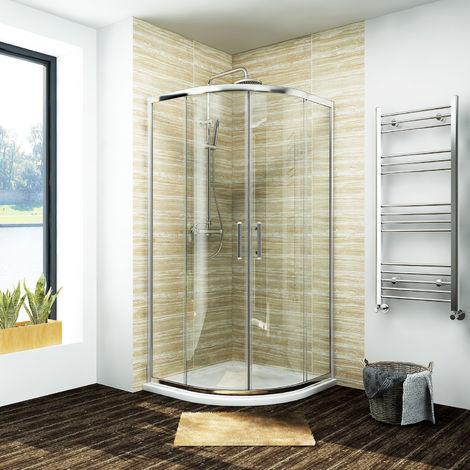 ELEGANT Quadrant Shower Cubicle Enclosure Sliding Door 900 x 900 mm Easy Clean Glass