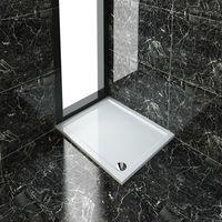 ELEGANT Rectangular 1100 x 900 x 40 mm Stone Tray for Shower Enclosure Cubicle + Waste Trap