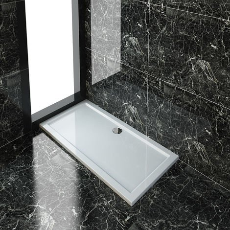 ELEGANT Rectangular 1400 x 700 x 40 mm Shower Tray for Shower Enclosure Cubicle + Waste Trap