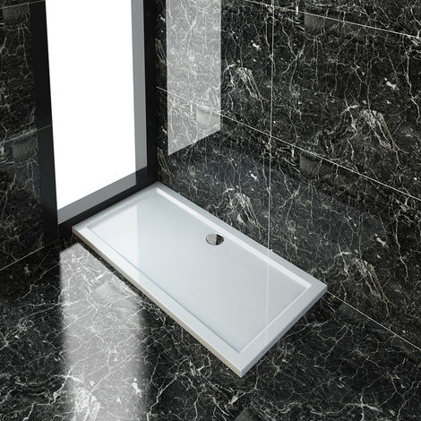 """main image of """"ELEGANT Rectangular 1500 x 700 x 40 mm Shower Tray for Shower Enclosure Cubicle + Waste Trap"""""""