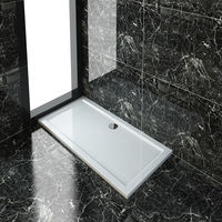 ELEGANT Rectangular 1500 x 700 x 40 mm Shower Tray for Shower Enclosure Cubicle + Waste Trap