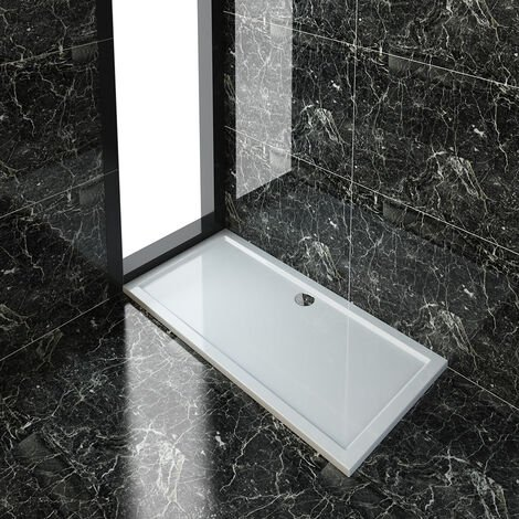 """main image of """"ELEGANT Rectangular 1600 x 800 x 40 mm Shower Tray for Shower Enclosure Cubicle + Waste Trap"""""""