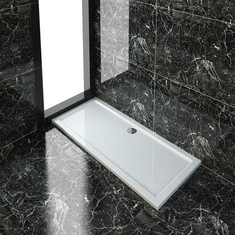 ELEGANT Rectangular 1700 x 700 x 40 mm Shower Tray for Shower Enclosure Cubicle + Waste Trap