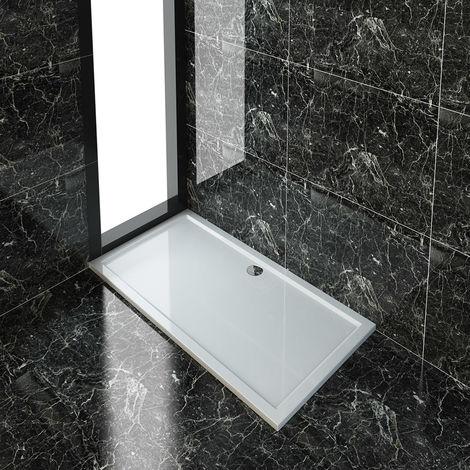 ELEGANT Rectangular 1700 x 900 x 45 mm Shower Tray for Shower Enclosure Cubicle + Waste Trap