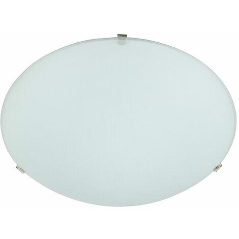 Elegant Round Opal White Frosted Glass Domed Flush Ceiling Light Fitting