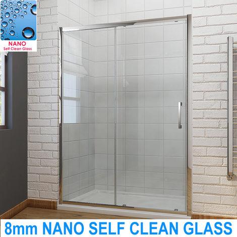 ELEGANT Sliding Shower Door Modern Bathroom 8mm Easy Clean Glass Shower Door 1200mm
