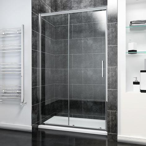 ELEGANT Sliding Shower Door Modern Bathroom 8mm Easy Clean Glass Shower Enclosure Cubicle
