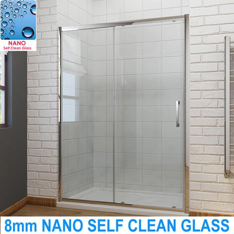 ELEGANT Sliding Shower Door Modern Bathroom 8mm Easy Clean Glass Shower Enclosure Cubicle Door 1200mm