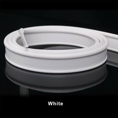ELEGANT Soft rubber shower seal for folding bath screen enclosure 1.2 metre long white colour