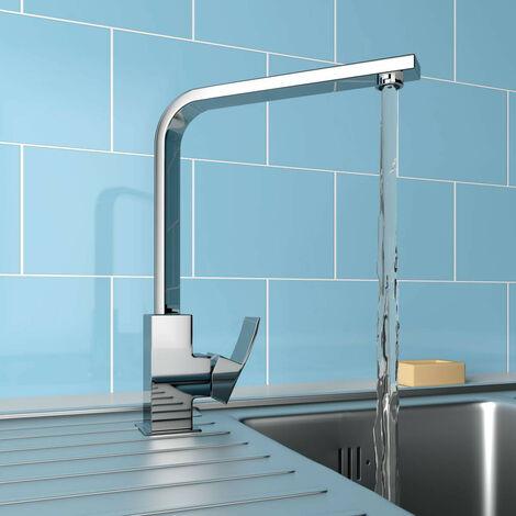 Elegant Swivel Spout Solid Brass Tap Single Lever Kitchen Sink Mixer Faucet