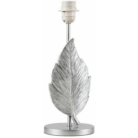 Elegant Table Lamp Feather Gold / Silver Base Only