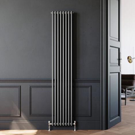 ELEGANT Traditional Radiator Anthracite Double Vertical Cast Iron Grey Radiator 2 Column