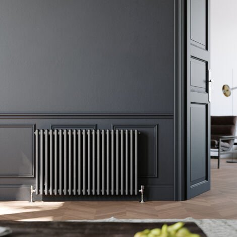 300 x 605 mm Traditional Column Radiators Horizontal Double Panel Cast Iron Central Heating Rads