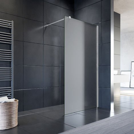 ELEGANT Walk-in Shower Screen 1200mm Made of 8 mm Glass Nano-coating Wetroom Shower Screen Glass