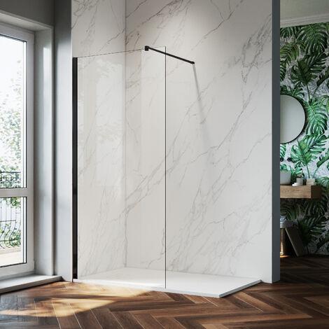 """main image of """"ELEGANT Walk In Shower Screen 8mm Nano Glass Wet Room Frameless Shower Door"""""""