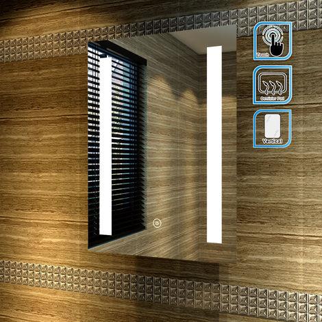"main image of ""ELEGANT Wall Mounted Illuminated LED Bathroom Mirror with Lights"""