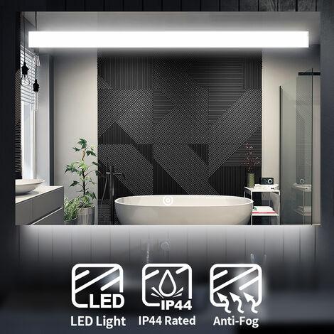 ELEGANT Wall Mounted Illuminated LED Bathroom Mirror with Lights