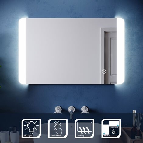 ELEGANT Wall Mounted Illuminated LED Bathroom Mirror with Lights