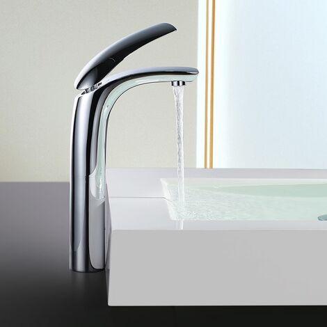 Elegant Wasserhahn Bad Waschbecken Armatur Bad hoch Einhebelmischer Waschtischarmatur Badarmatur Mischbatterie für Bad