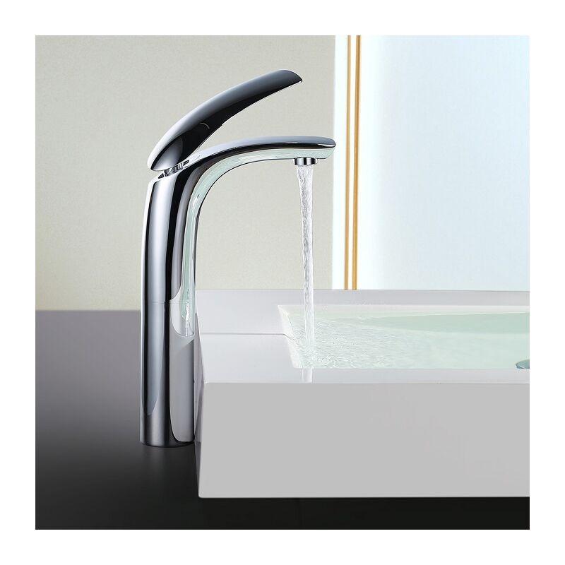 Elegant Wasserhahn Waschbecken Armatur Bad hoch Einhebelmischer  Waschtischarmatur Badarmatur Waschbecken Mischbatterie für Bad