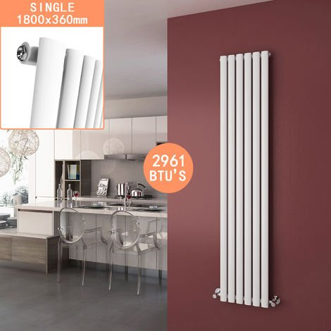 ELEGANT White Central Heating Vertical Column Radiator Designer Radiator Heater
