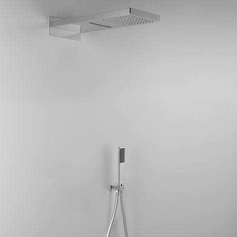 Élégante composition ARES avec pomme de douche effet pluie et cascade + douchette (code 12814)