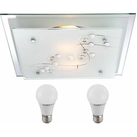 Elegante lámpara de techo de la sala de estar lámpara de metal en el conjunto incluyendo lámparas LED