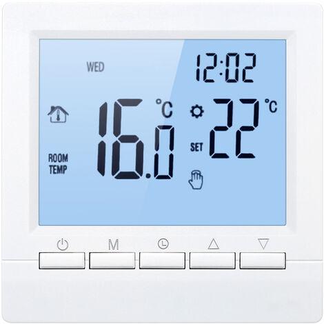 Elektrische Heizung Thermostat 16A Umfangsprogrammierhandtaste blau schwarz positive Anzeige