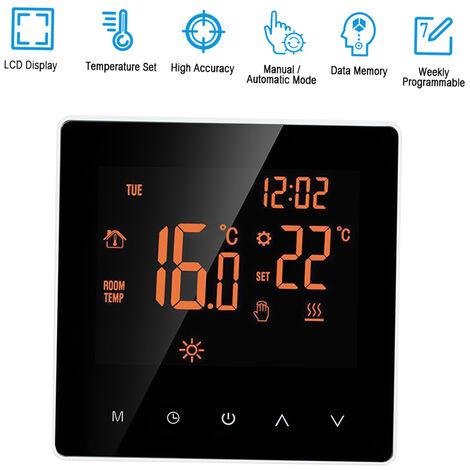 Elektrische Heizungsthermostat 16A Umfang Programmierung touchscreen orange Hintergrundbeleuchtung wei?e Taste
