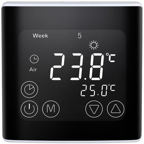 Elektrische Heizungsthermostat Programmschleife Gro?bild-LCD Umfangsoberflachengestaltung 16A