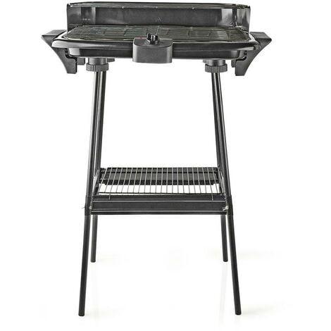 Elektrischer Grill, Barbecue Grill, Standgrill, Balkongrill 2000 Watt, 46x28cm, Schwarz