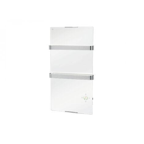 """main image of """"Elektrischer Handtuchheizkörper aus gehärtetem Weißglas mit wifi"""""""