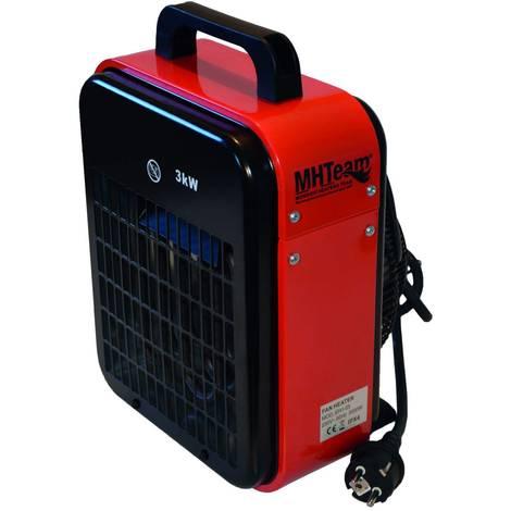 Elektro Schnellheizer 3000W IPX4 Rot cm 22,0x20,0x33,5 MHTEAM EH1-03