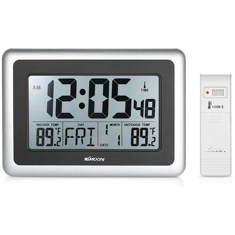 Elektronische Uhr des Innen- und Au?enthermometers ohne Batterielieferung