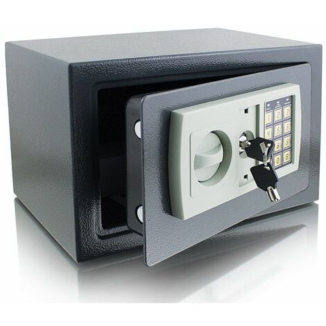Elektronischer Möbeltresor Minitresor Wandtresor Wandsafe Schranktresor Maße(B/H/T): 310 mm x 200 mm x 220 mm - Türstärke: 3 mm grau