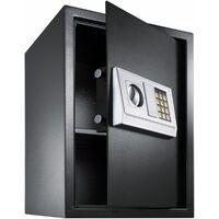 Elektronischer Safe Tresor mit Schlüssel und Einlegeboden inkl. Batterien - Tresor, Möbeltresor, Minisafe - schwarz