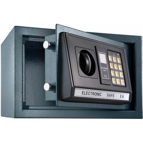 Elektronischer Safe Tresor mit Schlüssel und LED-Anzeige inkl. Batterien - Tresor, Möbeltresor, Minisafe - schwarz