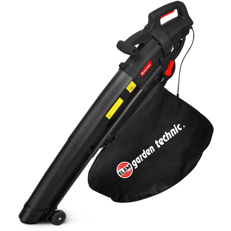 ASB3001-18 - Aspirafoglie, aspiratore soffiatore trituratore. Potenza 3000W - Garden Technic