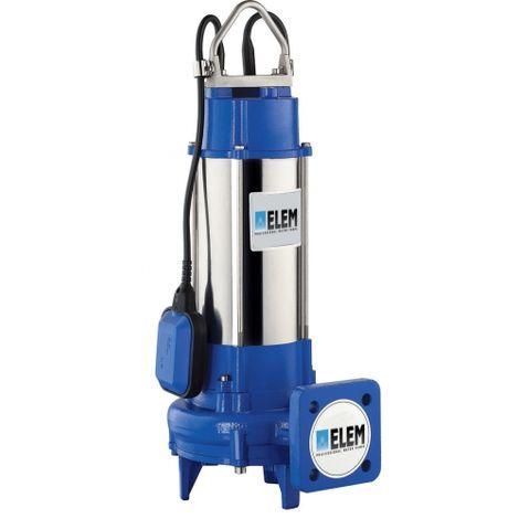ELEM PUMPS PRO PVT150 - Bomba el�ctrica sumergible profesional con trituradora para aguas residuales 1.5 hp 230v