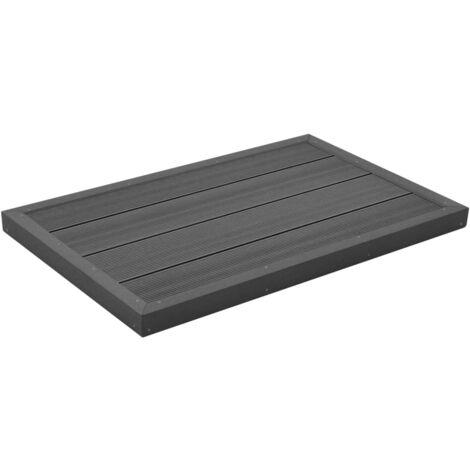 Élément de plancher pour douche solaire/échelle de piscine WPC