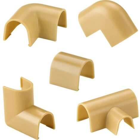 Élément de raccordement cablefix 160708 160708 élément de raccordement 1 set beige