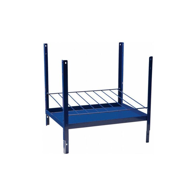 Élément d'étagère 160 H520xl540xP390 mm bleu RAL 5022 8 rangées approprié pour cartouches de silicone - Logs